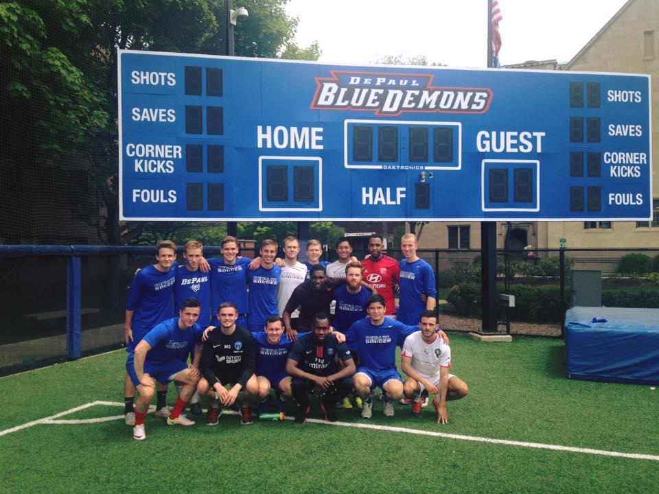 Entrainement avec l'équipe universitaire de Chicago en mai dernier