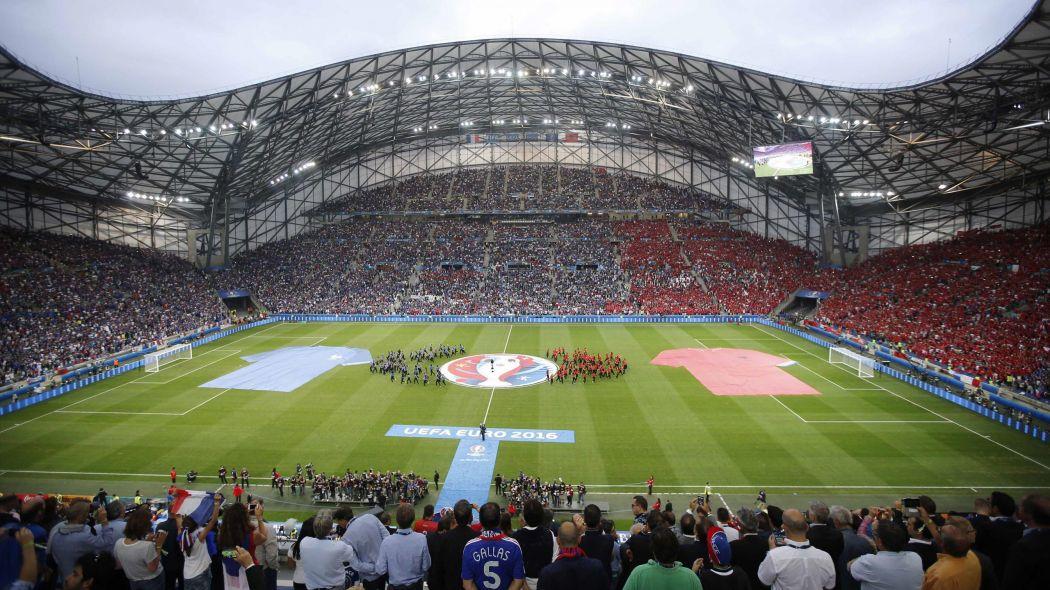 Le vélodrome pendant l'Euro 2016