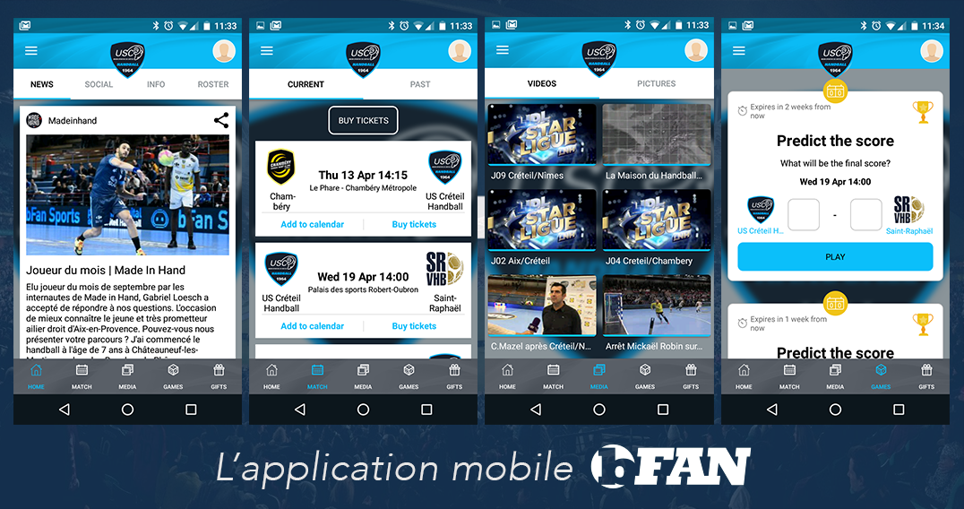 L'application mobile bFAN
