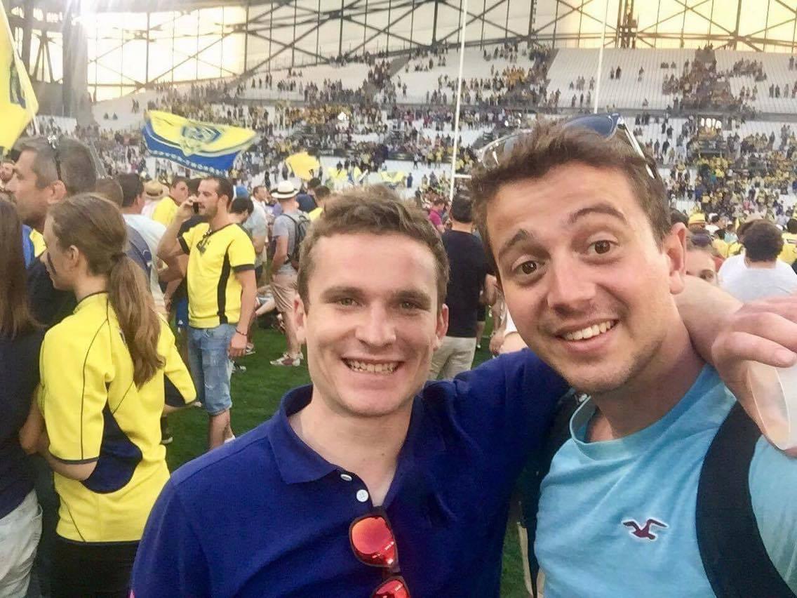 Nos deux fans de rugby