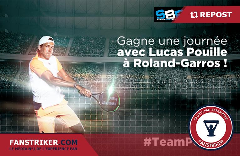 Lucas Pouille intégrera un fan dans son staff pour Roland Garros
