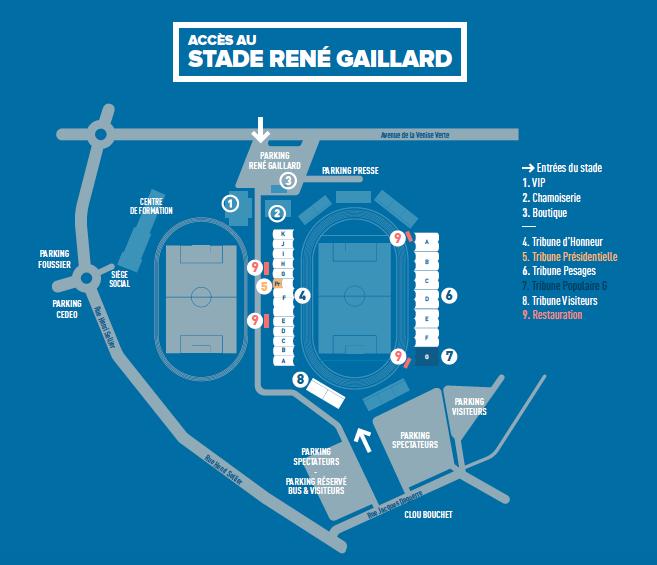 Plan du stade René Gaillard