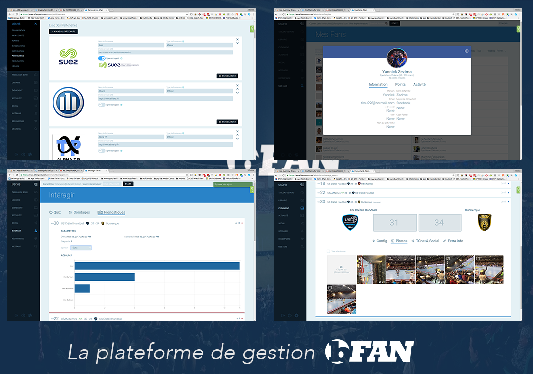La plateforme de gestion bFAN