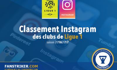 Le classement Instagram des clubs de Ligue 1
