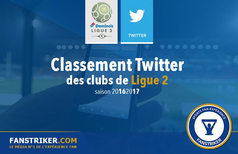 Le classement Twitter des clubs de Ligue 2