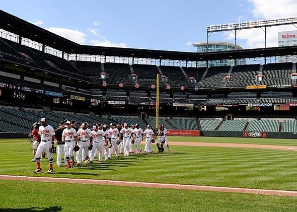 Un match de Baseball sans spectateurs
