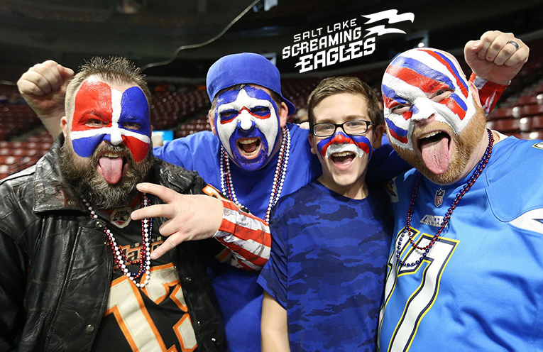 Des fans des Screaming Eagles
