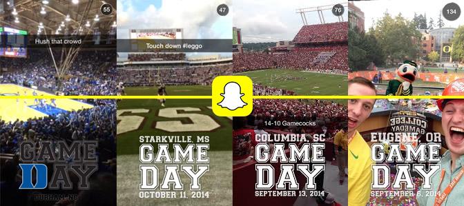 Snapchat sera le moyen de voir le match sous différents angles