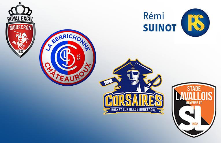 Les logos des clubs réalisés par Rémi