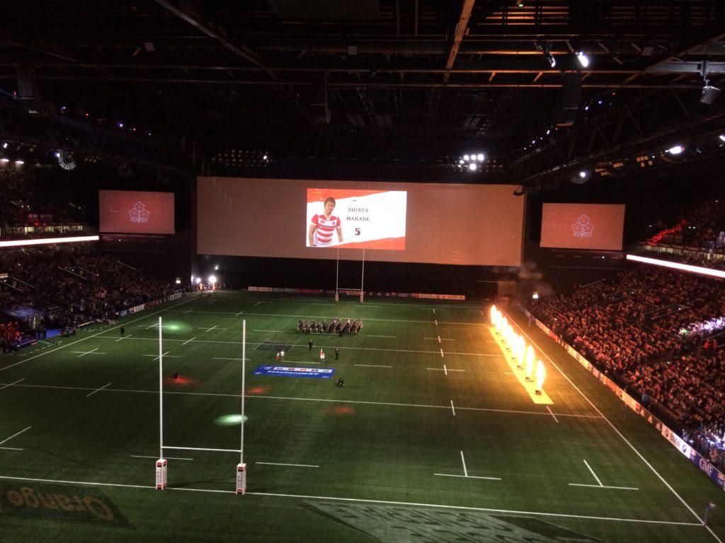 Show d'avant match U Arena pour France Japon