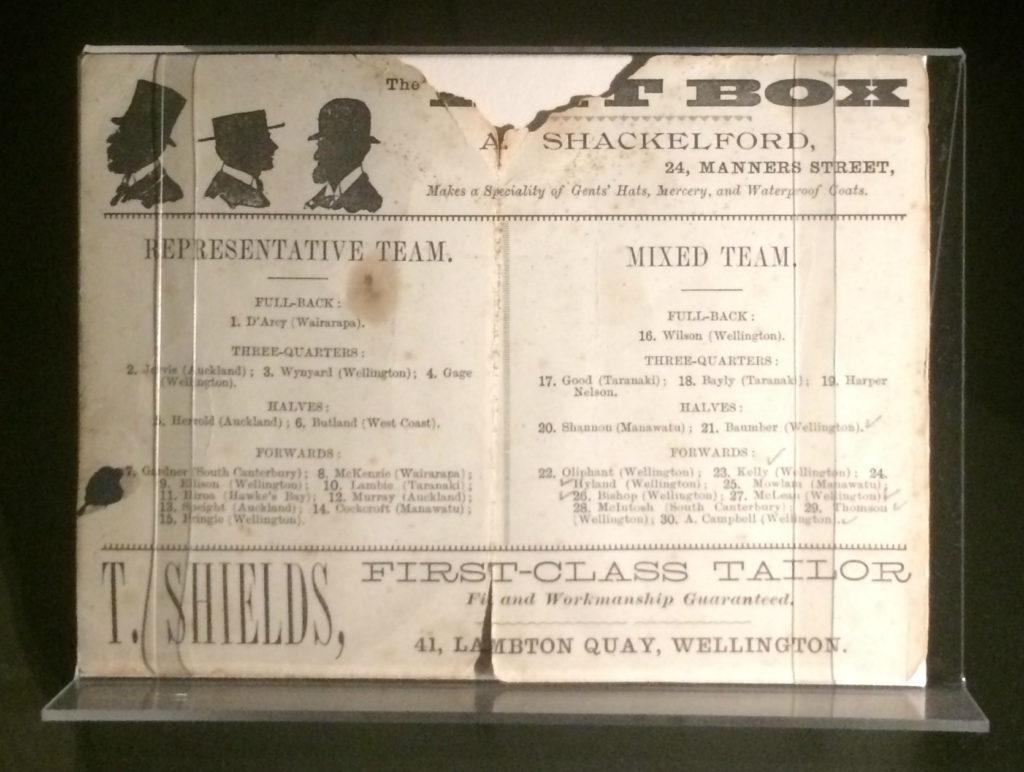 Programme de match des années 1940