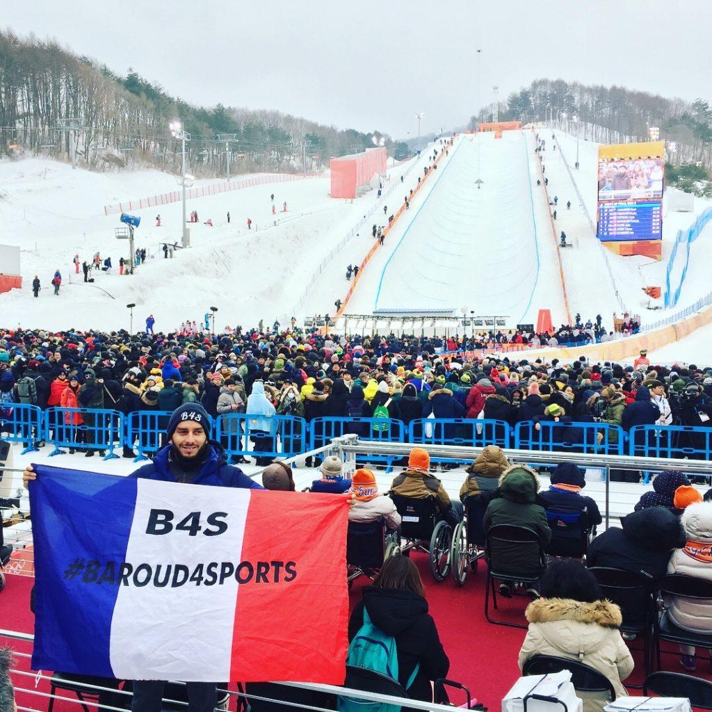 Olivier, supporter français aux JO de Pyeongchang