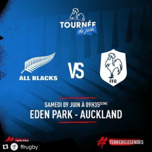 Les All Blacks affrontent l'équipe de France à l'Eden Park