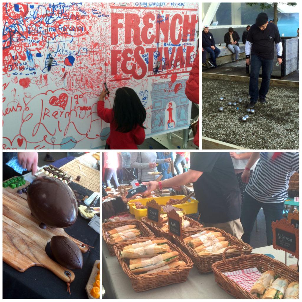 Après-midi d'avant match au French Festival d'Auckland