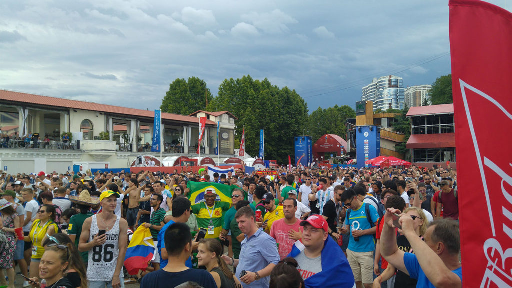 Fan Zone à Sotchi Coupe du Monde 2018