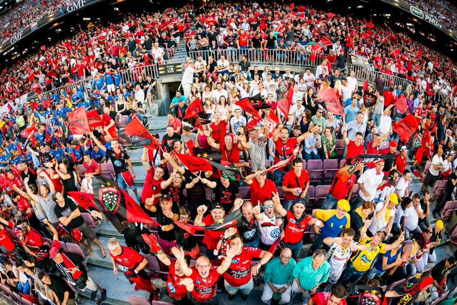 Les fans du RCT au Camp Nou en Juin 2016 pour la Finale du TOP 14