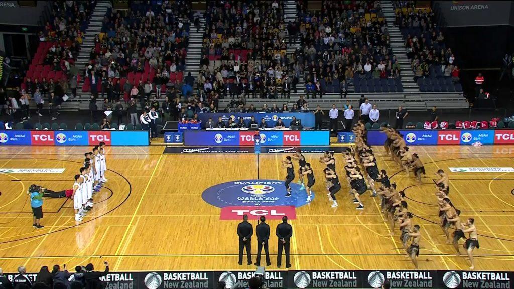 Tall Blacks impressive Haka before the game against China