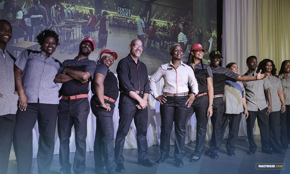 Le staff d'Atlanta Hawks au Philips Arena