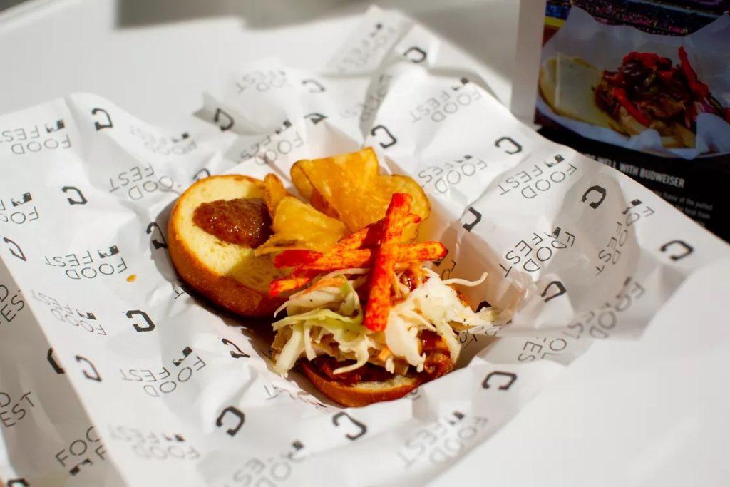 """Le sandwich """"Lance Flamme"""" des Cleveland Indians de MLB"""