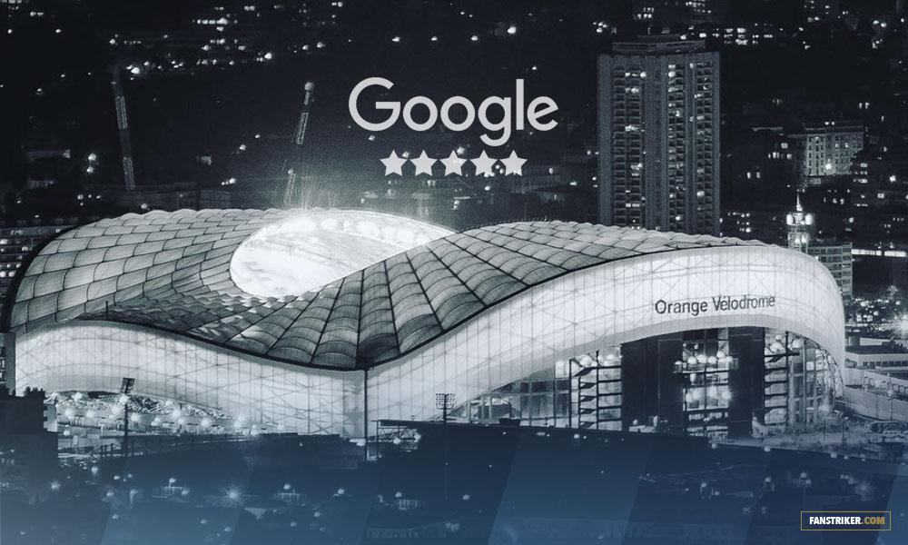 Avis des stades de Ligue 1 sur Google