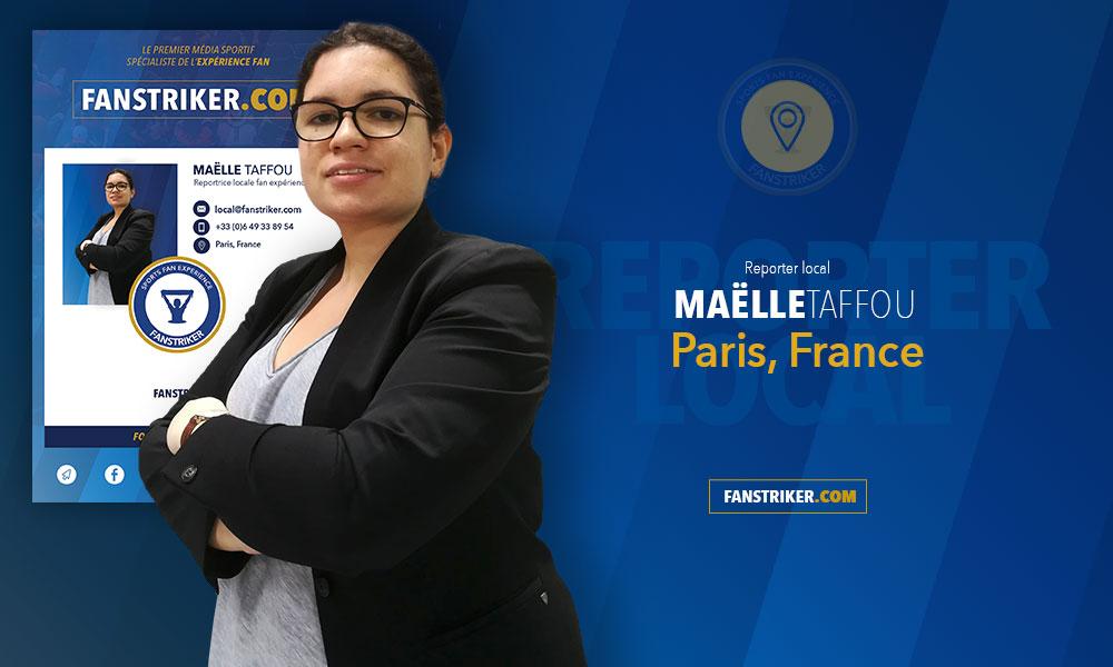 Maëlle Taffou, reportrice locale pour Fanstriker