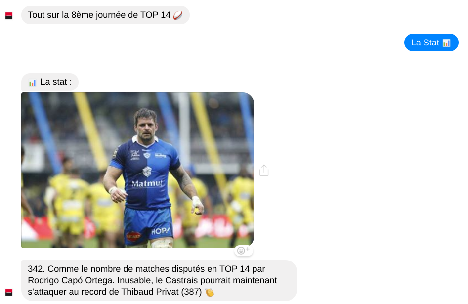 Chatbot de la Société Générale et TOP 14