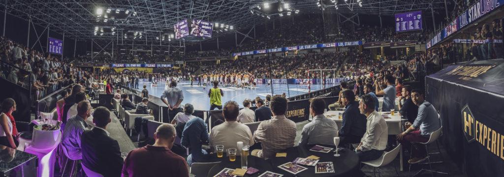 L'espace H'Experience du HBC Nantes qui offre une vue en immersion sur le match