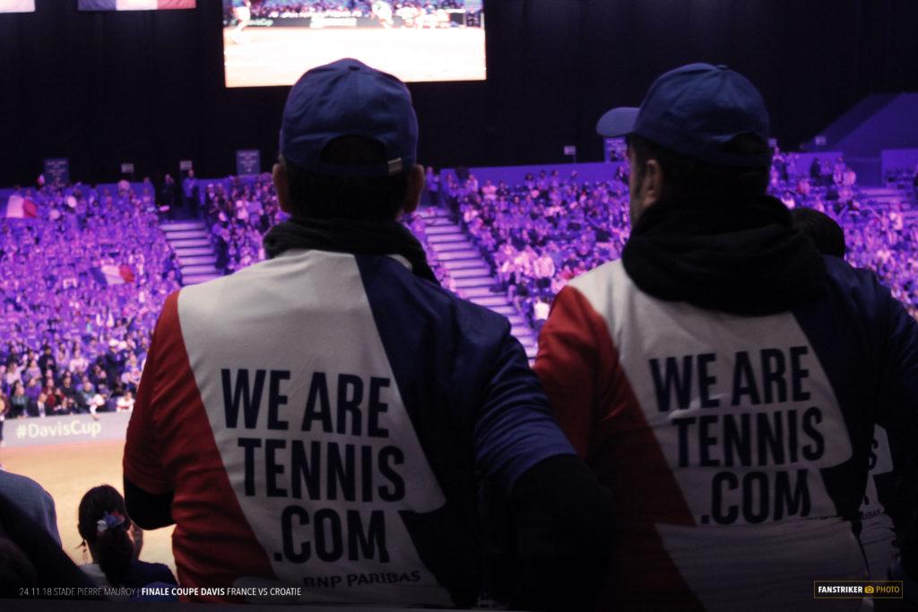 La WATFA, les fans de tennis par BNP Paribas en Coupe Davis