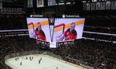 Le scoreboard au Prudential Center