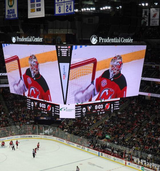 Le scoreboard au Prudential Center