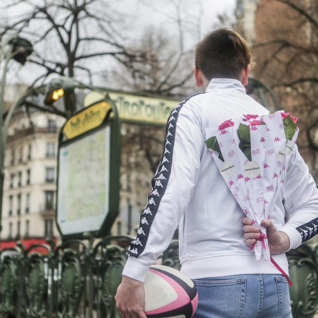 Paris, le rugby et des roses