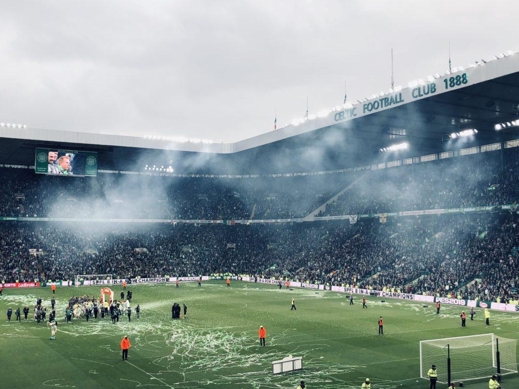 La célébration du titre après le match