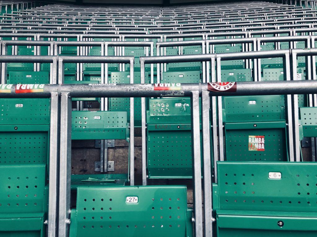 Les tribunes debout du Celtic Park