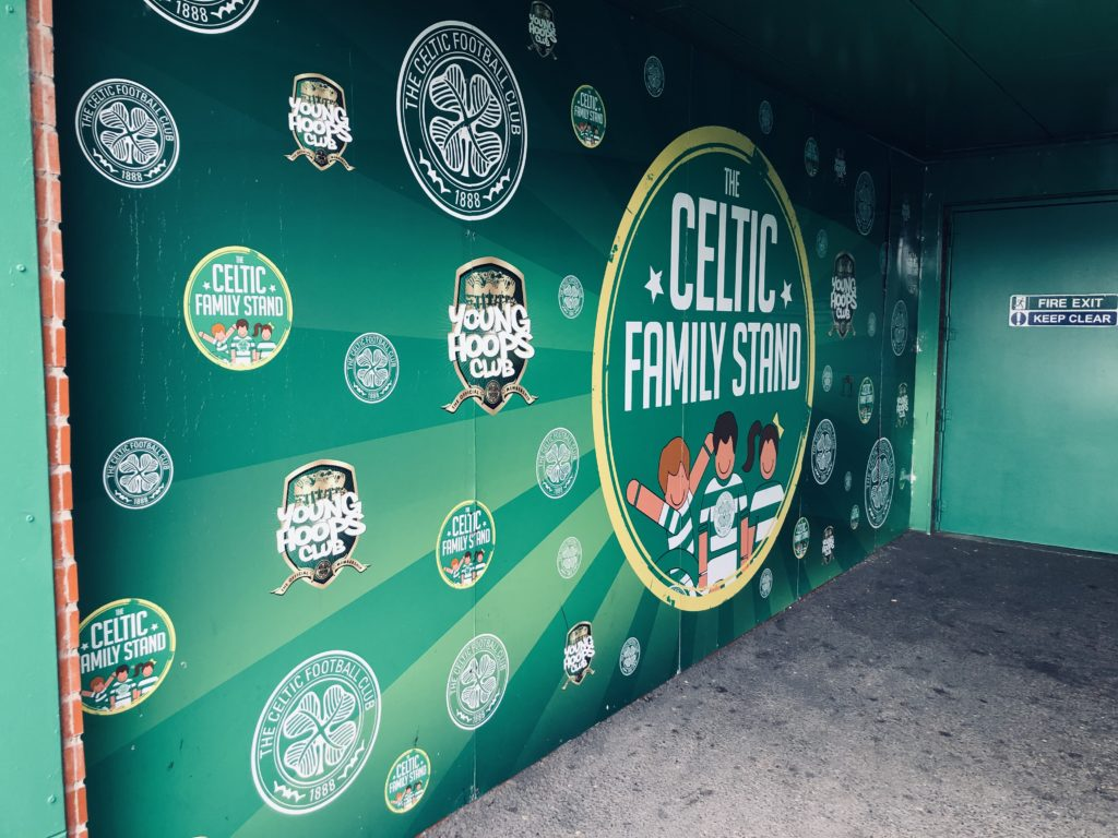 Le Celtic dispose d'une tribune Famille