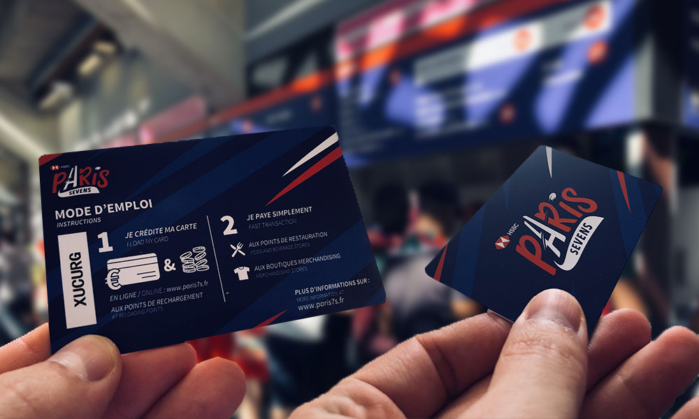 La carte cashless du HSBC Paris Sevens
