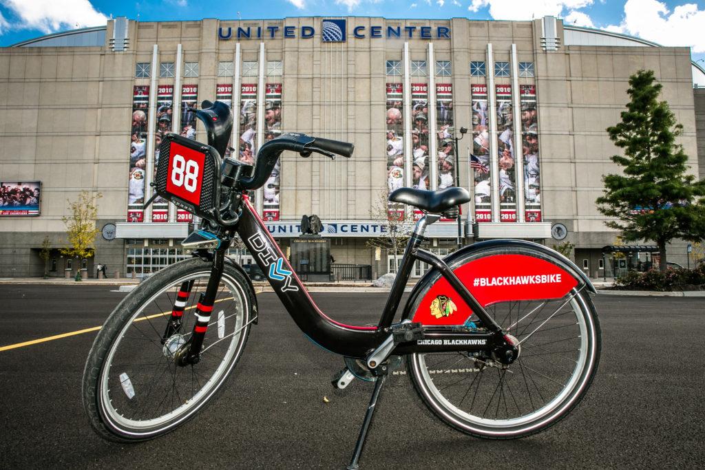 DIVVY bikes Chicago Blackhawks
