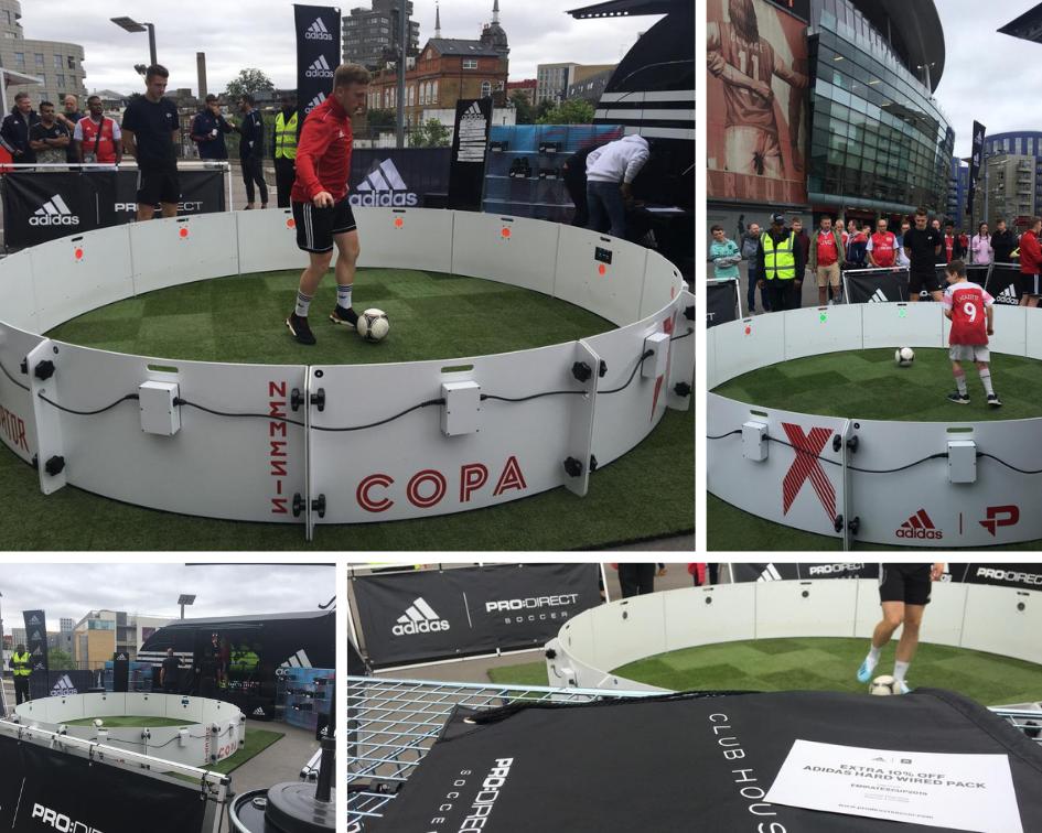 Animation Adidas à l'extérieur de l'Emirates Stadium
