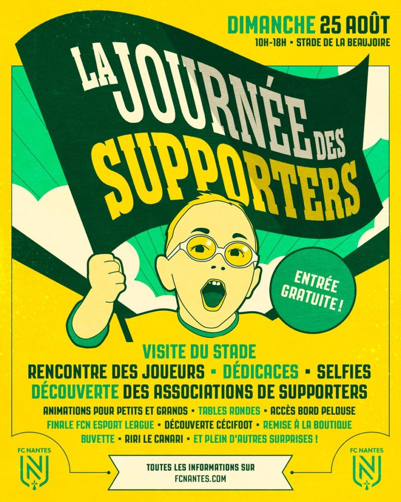 L'affiche de la journée des supporters du FC Nantes 2019