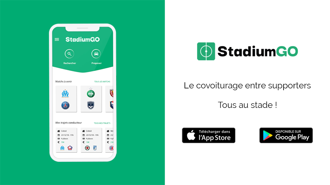 L'application StadiumGO, disponible dès maintenant sur les stores mobiles