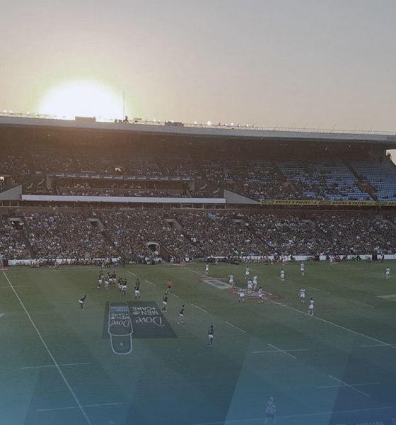 Un match de rugby en Afrique du sud