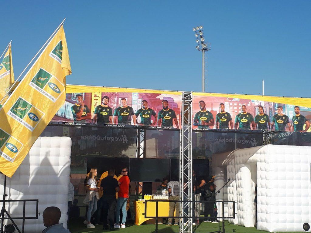 Le stand MTN où se déroulait le concours pour gagner 2 places VIP