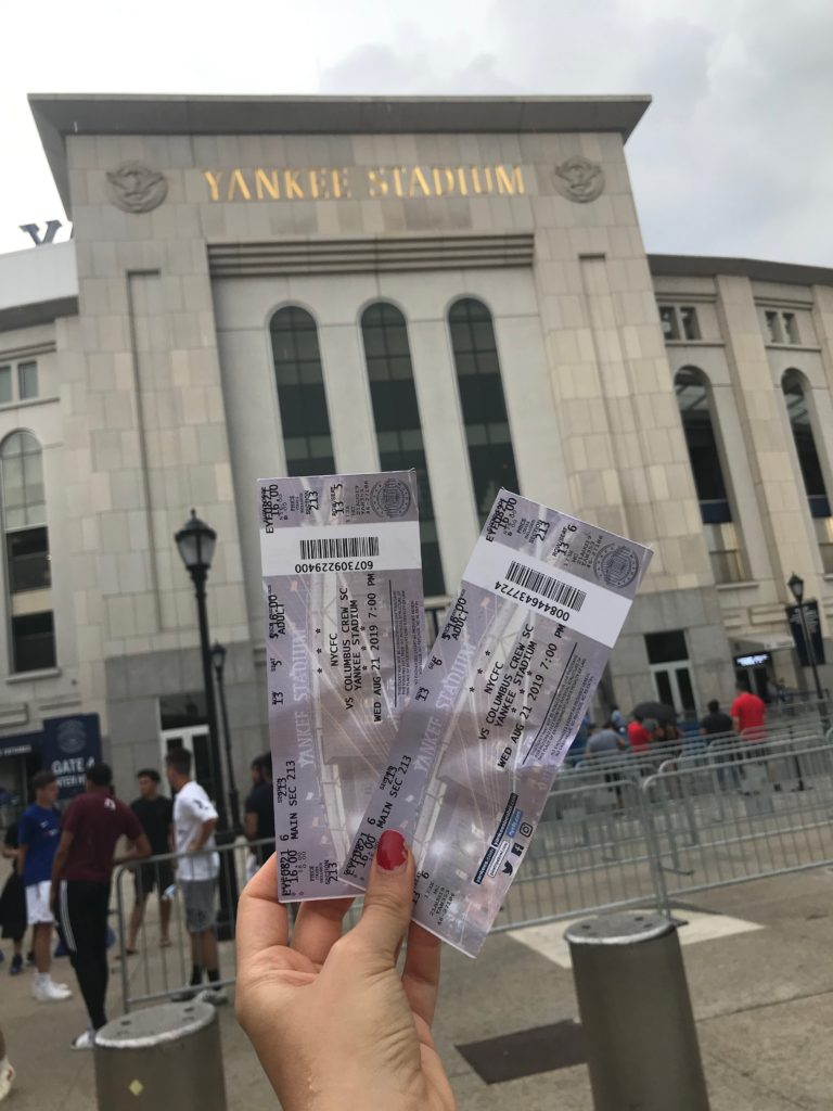Nos billets pour le match NYCFC-Columbus Crew sont en mains