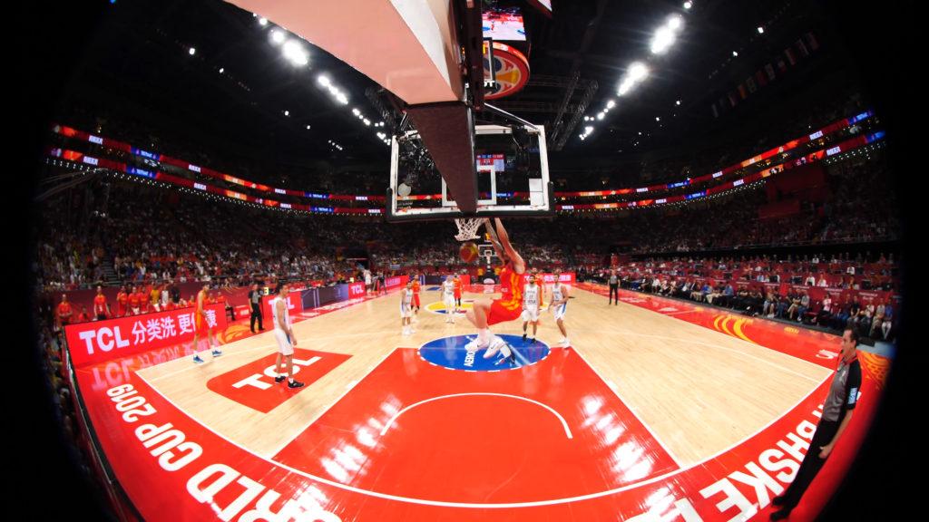 Photo 180° prise à l'occasion du match Argentine - Espagne en Chine pour la FIBA