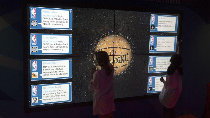 Le NBA Social media wall