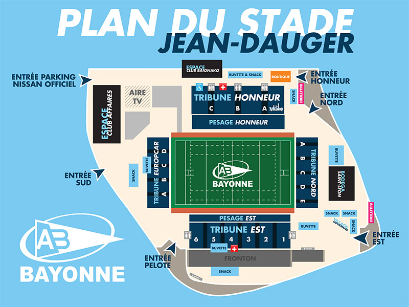 Plan du stade Jean Dauger