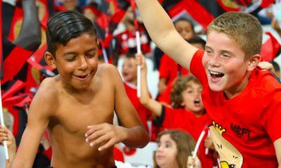 Jeunes supporters du Mèfi Club OGC Nice
