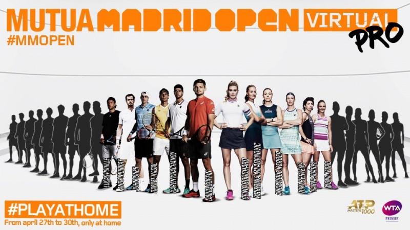 joueurs et joueuses Mutua Madrid Open Virtual