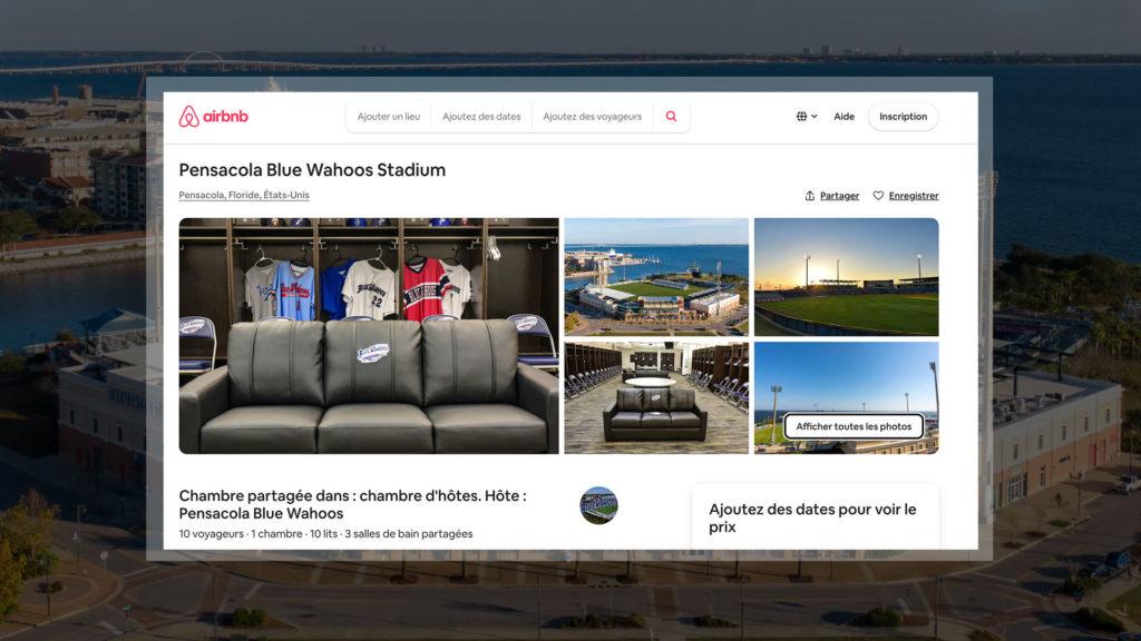 L'annonce sur le site Airbnb