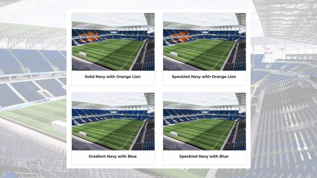 Les 4 choix de tribunes proposés aux votes des fans