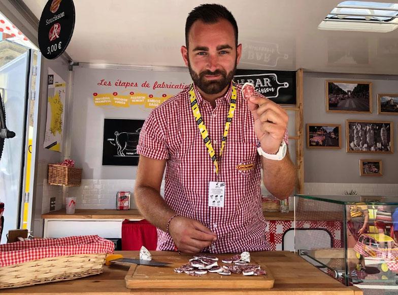 Paul Banal, animateur Cochonou sur le Tour de France